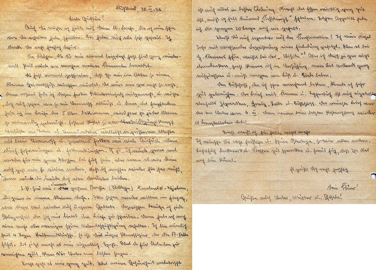 Schöne Briefe Schreiben : Feldpostbriefe kuno rinker